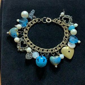 Electic Bracelet with Blue and Gold Accents